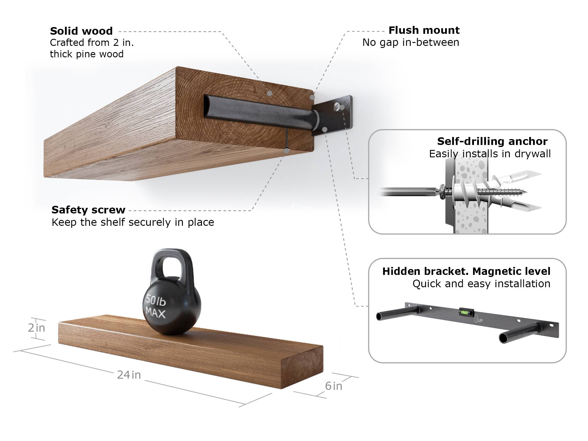 index keyword=Rustic Unique Floating Shelf Brackets